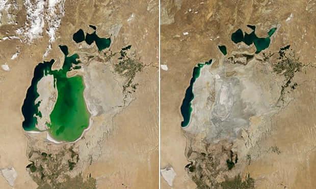 Neudržateľné pestovanie bavlny - Vysušovanie Aralského jazera