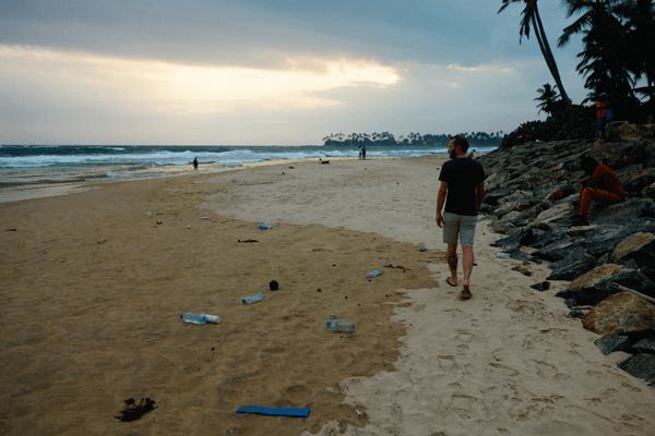 Znečistenie na pláži, Srí Lanka