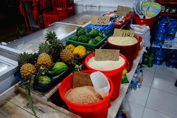 Bezobalové nakupovanie. Tangalle Srí Lanka