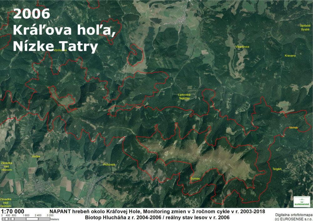 odlesňovanie na Slovensku 2006